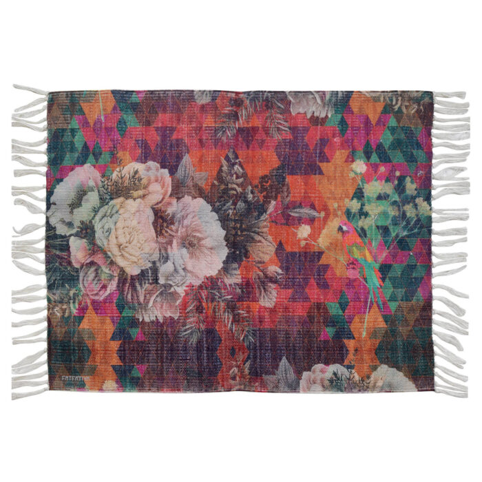 Multicoloured Floral Re-Cycled Polyester Rug