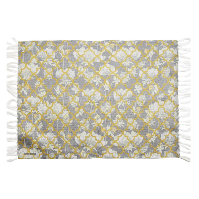 White Lotus Flower Re-Cycled Polyester Rug