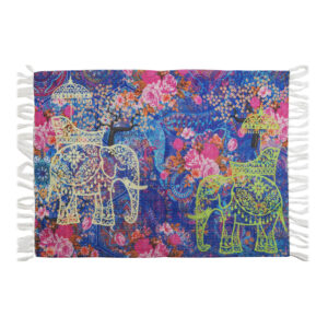 Two Indian Wedding Elephant Re-Cycled Polyester Rug