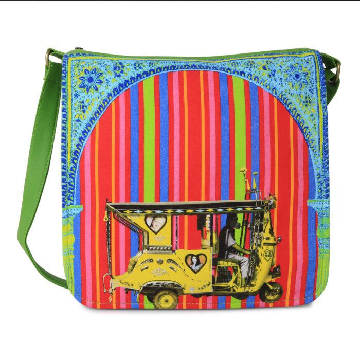 Trendy Floral Gateway Canvas PU Sling/Crossbody Bag