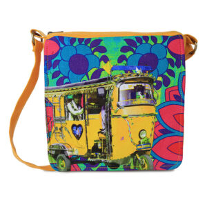 Neon Yellow Taxi Canvas PU Sling/Crossbody Bag