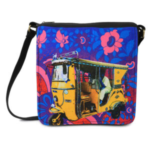 Golden Taxi Canvas PU Sling/Crossbody Bag