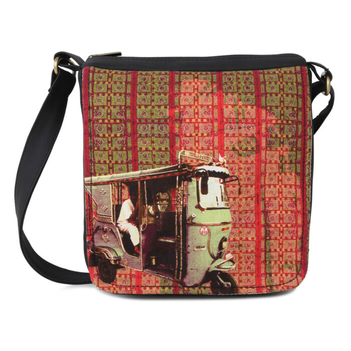 Classic Taxi Canvas PU Sling Bag