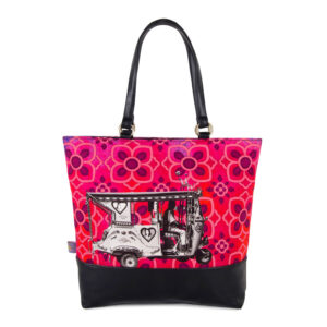 Silver Auto Rickshaw Canvas PU Women Tote Bag