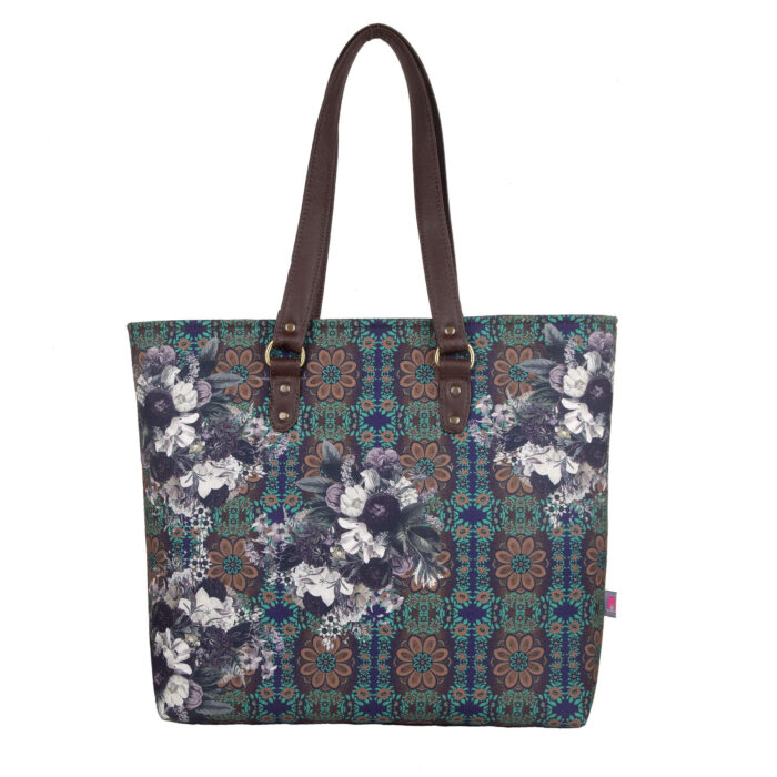 Abstract Flower Print Women Tote Bag
