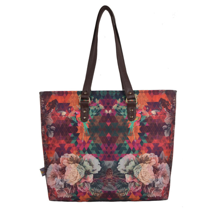 Multicoloured Floral Designer Women's Tote Bag