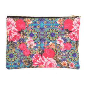 Cool Blue and Yellow Flower Utility Pouch