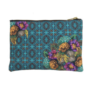 Beautiful Purple and Yellow Flower Stash Pouch
