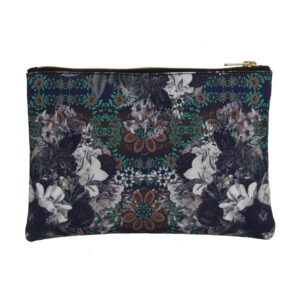 Abstract Flower Zipper Utility Pouch