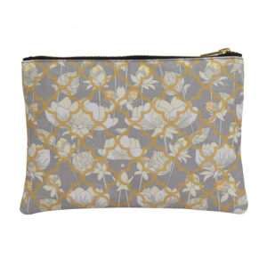 White Lotus Flower Utility Pouch