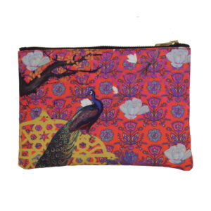 Gorgeous Indian Peacock Stash Pouch