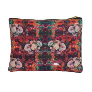 Multicoloured Floral Utility Pouch
