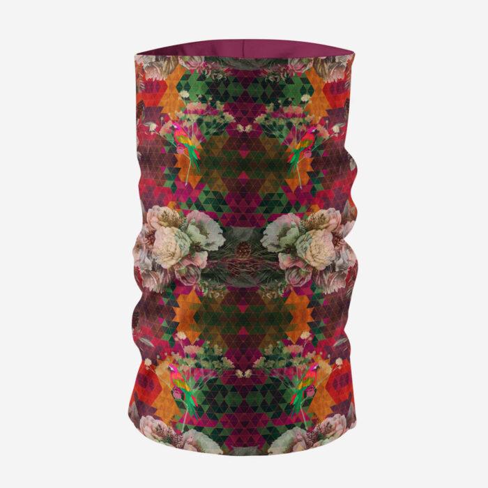 Multicoloured Floral Printed Unisex Neck Gaiter