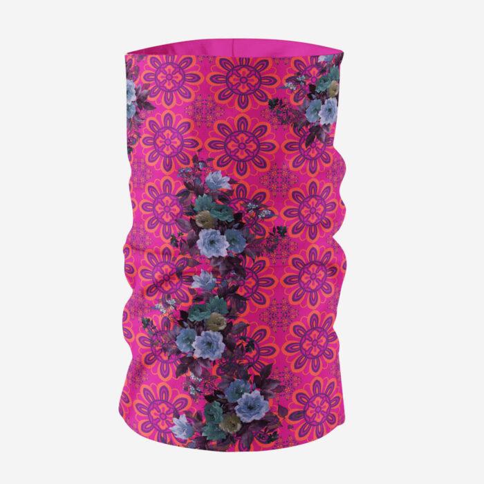 Pink and Blue Floral Unisex Bandana Mask