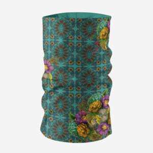 Geometric Design Flowery Unisex Bandana Mask/Neck Gaiter