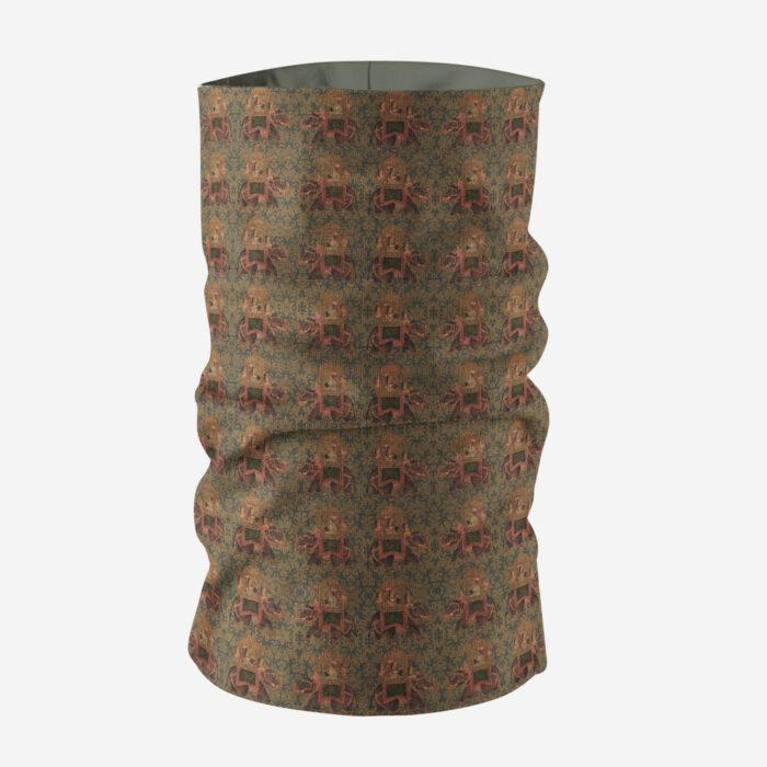 Brown Multicoloured Unisex Bandana Mask/Neck Gaiter