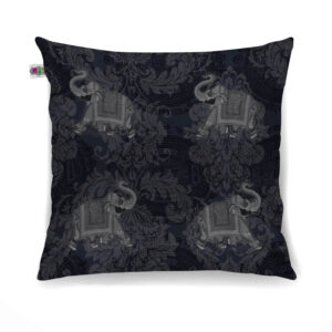 Women Grey Elephant Canvas Cushion Cover