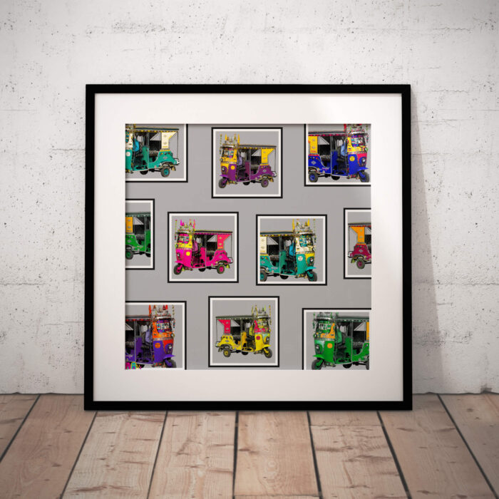 Farmed Taxis Collage Art Print