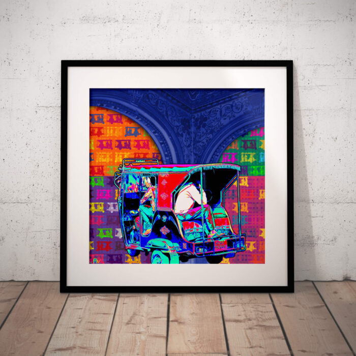 Colorful Taxi Art Print