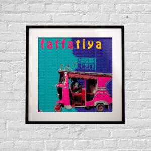 Pink Taxi Art Print
