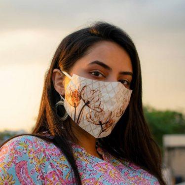 Beautiful Girl Wearing Face Mask
