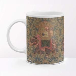 King on Elephant Coffee Mug