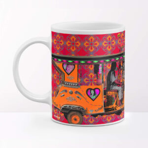 Orange Taxi Travel Coffee Mug