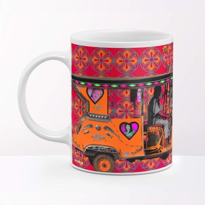 Orange Taxi Travel Coffee Mug