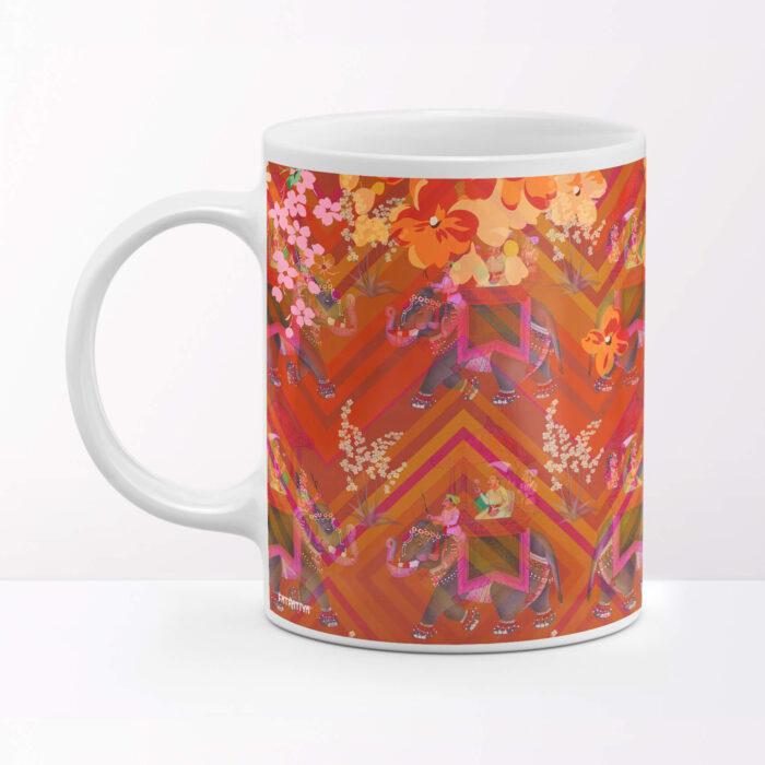 Elephant Prade Ceramic Coffee Mug