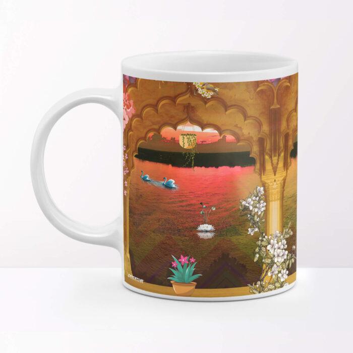 Sunset through 3 Door Way Coffee Mug