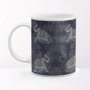 Elephant Themed Travel Coffee Mug
