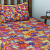 Multi Auto Rickshaw Cotton Single Bedsheet with 1 pillow Cover