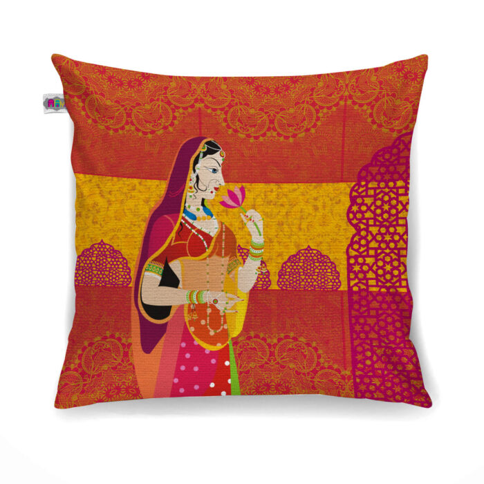 Buy Maharani Canvas Cushion Cover