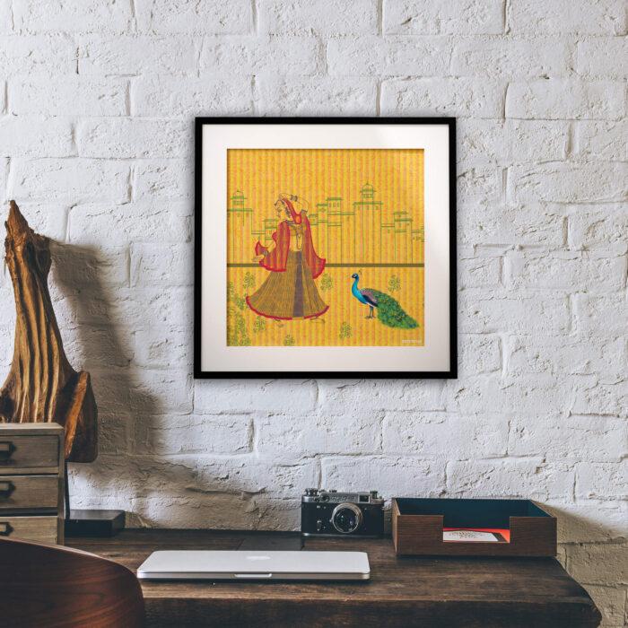 Mohini Sang Morni Framed Art Piece